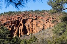 Red Mountain Trail is located 25 miles northwest of Flagstaff and will lead you into a fractured cinder volcano, its interior exposed for all to see.