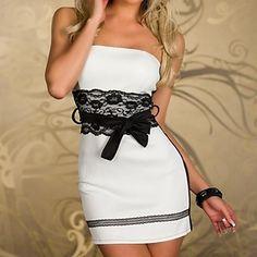 Mulheres Sexy Strapless vestido sem mangas Partido corpo bonito       – BRL R$ 32,01