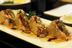this looks amazing! Rice Sandwich Recipe, Sandwich Recipes, Bento, Sushi, Main Dishes, Grilling, Sandwiches, Chicken, Cheese