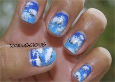 Nailuscious: Day 5: Blue nails