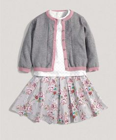 Girls Three Piece Floral Skirt Set - New In - Mamas & Papas