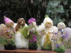 These are some of the sweetest felted fairies I've ever seen!