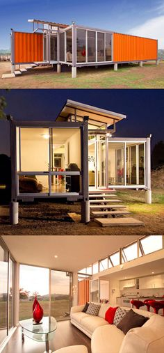 Container homes are genius! Just gotta add curtains or blinds for when you are naked around the house. :)