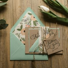 the sweetest rustic invitation suite ever! #invitaions #mint #rustic http://www.jupiterandjunoshop.com/collections/exclusive-package-discounts/products/kathryn-suite-rustic-package