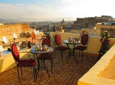 "This jaw-dropping view of the Fez Medina & Riff Mountains is from the rooftop of Dar Hafsa Hostel in #Morocco - we can't believe it either! It's a family-run traditional Moroccan home with a 100% rating from you guys. It's all about special treatement here with a lavish breakfast every morning and teas on the rooftop. Here is a tea tip from @the_hostelgirl: ""If you're lucky enough to be invited by a Moroccan local for mint tea or (even better!) dinner take the opportunity. The Moroccan…"