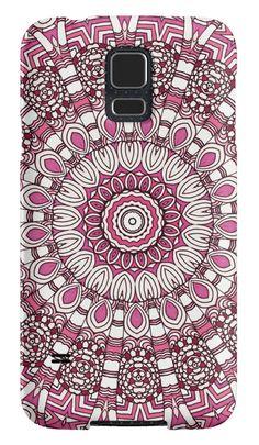 FUSCHIA GEO FLOWER by Monika Strigel $25  #abstract #illustration #mandala #kaleidoscope #flower #floral #abstract #boho #bohochic #boholiving #cute #girls #monikastrigel