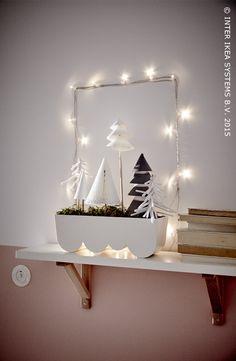 Een serene kerst. Ontdek al onze DIY-ideeën voor de feestdagen. ÄGGPLANTA designbloempot #IKEABE #IKEAidee