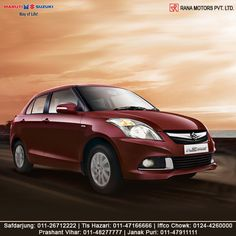 You might want to get used to appreciation and applause. With elegant features and premium looks, get ready to unlock a world of sophistication. http://www.ranamotors.co.in/toolkit/maruti-suzuki-swift-dzire-en-in.htm  Contact Numbers:- Safdarjung: 011-26712222 Prashant Vihar: 011-48277777 Iffco Chowk: 0124-4260000 Tis Hazari: 011-47166666 Janak Puri: 011-47911111  #MarutiSuzuki #SwiftDzire #Features #Car #RanaMotors #NewDelhi #Gurgaon
