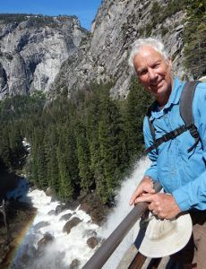 Ken at the top of Nevada Fall Yosemite Waterfalls, Nevada, Tours, Spring