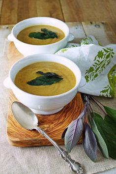 Roasted Eggplant Lentil Soup with Crispy Sage / Patty's Food