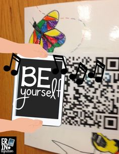 Making Audio QR codes to spread positive messages through the school and build classroom community. FREE directions and ideas.
