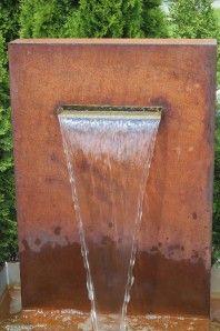 Wasserspiel Cortenstahl Edel Rost Wasserfall 30 inkl. Pumpe