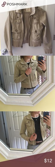 Tan canvas jacket KIDS XL, NOT WOMENS XL. Used but in good condition Old Navy Jackets & Coats