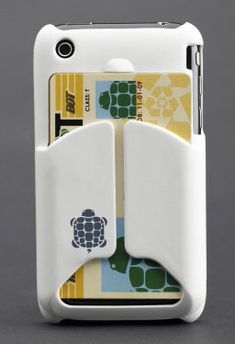 iPhone case wtih card holder. I love this idea! How many times do you run into the store with just your phone and debit card?