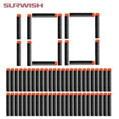 $13.02 - Nice Surwish 100 pcs Fluorescence Dart Refills Universal Standard Round Head Hollow Foam Bullets for Nerf Toy Gun - Buy it Now!