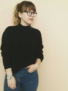 Nothing comfier than H&M black turtleneck sweater