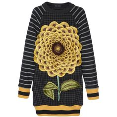 Sunflower Jumper | Moda Operandi (7,040 GTQ) ❤ liked on Polyvore featuring tops and sweaters