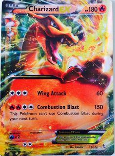 Charizard-Ex Pokemon XY Flashfire Cool Pokemon Cards, Rare Pokemon Cards, Pokemon Trading Card, Trading Cards, Pokemon Party, Pokemon Birthday, Pokemon Fan, Pokemon Stuff, 4th Birthday