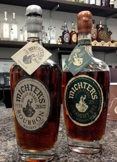 Michter's 20 year old bourbon and 25 year old rye.