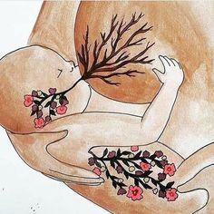 LIFE/ x original art print/ breastfeeding/ breastfeeding art/ motherhood/ gift for new mom Breastfeeding Art, World Breastfeeding Week, Birth Art, Pregnancy Art, Poster S, Midwifery, Gifts For New Moms, Doula, Mothers Love