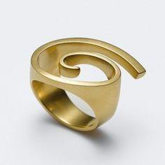 "Angela Hübel, ring ""Orion"", gold"