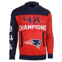 New England Patriots Super Bowl Commemorative Acrylic Hoody