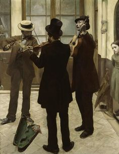 'Les Musiciens' by Albert Bartholome. Oil on canvas.