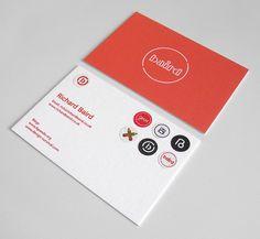 Baird business card & stickers.