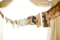 have guests take a vintage postcard home, then send it back with a favorite memory.