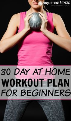 Awesome explanation and examples on how to set up a workout plan to do at home!