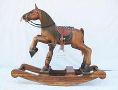 Wooden_Rocking_Horse_Wood_Craft_Woodcarving_Handcraft