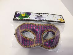 Purple Pink Sparkly Mask Mardi Gras Masquerade Purim Costume New Polka Dots #Unbranded #Eyemask #Party