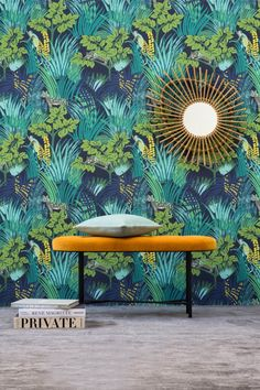Wilde bunte grüne Dschungeltapete - tolle Inspiration *** Jungle Fever on the Wall - great Inspiration *** La jungle s'invite chez Pierre Frey