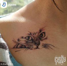 Let your inner run wild - play hard, get creative, maybe even a little Cat Eye Tattoos, Kitten Tattoo, Arm Tattoos, Body Tattoos, Seal Tattoo, Tattoo Ink, Piercing Tattoo, Piercings, Rosen Tattoo Frau