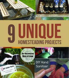 These unique DIYs and unusual instructions will add some new life into your homesteading projects. | http://survivallife.com/2014/03/03/9-unique-diy-homesteading-projects/