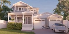 Repeat Customer Chooses Brisbane Company to Build Dream Home Custom Home Designs, Custom Homes, Building Design, Building A House, Build Dream Home, Two Storey House Plans, The Hamptons, New Homes, Floor Plans