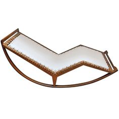 Rocking Chaise Model n. PS16 by Franco Albini | From a unique collection of antique and modern rocking chairs at http://www.1stdibs.com/furniture/seating/rocking-chairs/