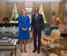 Royals & Fashion - King Willem Alexander and Queen Maxima met with the President of Rwanda they received in their residence Wassenaar. Queen Maxima met him as a representative of the UN.