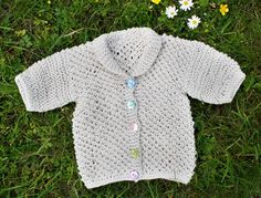 Free Knitting Pattern - Baby Sweaters: Summer Baby Cardigan