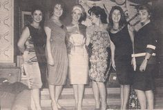 Vintage shot from the in Cairo showing celebrities (left to right) Maha sabri,Laila fawzi,Sabah,Nagwa fouad,Nadia lotfi and Laila taher. Egyptian Beauty, Egyptian Women, Egyptian Art, Arabic Beauty, Arab Actress, Egyptian Actress, Vintage Movie Stars, Vintage Movies, Old Egypt