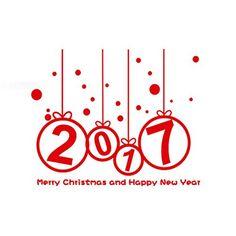 Fami Nouvel An 2017 Autocollant Joyeux mur de Noël, Home Vitrines Décoration amovible,Rouge: Matière: PVC Décorez votre chambre / salle de…