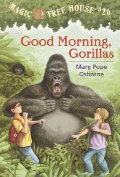 Magic Tree House # 26 Good Morning Gorillas by Mary Pope Osborne. Book is in very good condition. Music Games, Mary Pope Osborne, Magic House, Mama Blogger, Magic Treehouse, Mountain Gorilla, Videos Tumblr, Penguin Random House, Chapter Books
