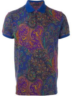 ETRO Paisley Print Polo Shirt. #etro #cloth #shirt