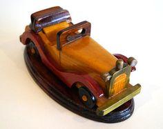 Coche retro de madera modelo vintage madera por VintageCollageFinds
