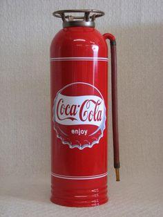 ANTIQUE / VINTAGE FIRE EXTINGUISHER RESTORED WITH COCA COLA