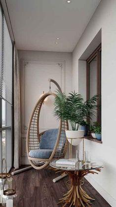 Home Room Design, Interior Design Living Room, Living Room Designs, Modern Room Design, Interior Livingroom, Room Interior, Living Rooms, Small Balcony Design, Small Balcony Decor