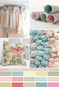 shabby chic pastel color palette | Image credits: 1. Nest Decorating , 2. Summersville , 3. Bailiwick ...