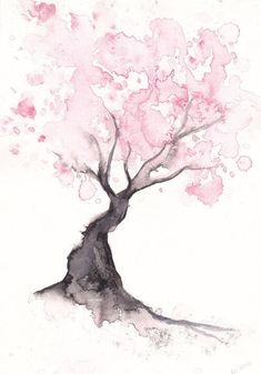 japanese watercolor blossom - Google Search