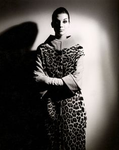 Henry Talbot (Germany 1920 – Australia 1999, Australia from 1940) No title (Fashion illustration, model Maggie Tabberer wearing ocelot coat) 1961-66