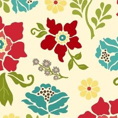 Heather Mulder Peterson - Summer House - Flower Garden in Cream     HT